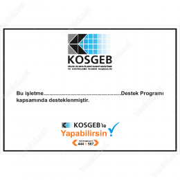Kosgeb Destek Programı Tabelası