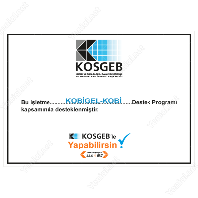 Kosgeb Destek Programı Kobi Gel Kobi Tabelası