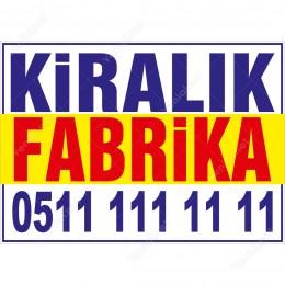Kiralık Fabrika Branda Afişi (Sarı Mavi Renk)