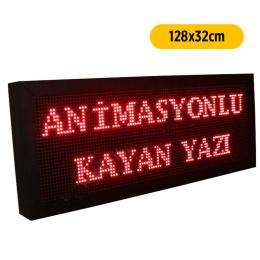Kırmızı Led Tabela/Kayan Yazı Tabelası 128x32cm