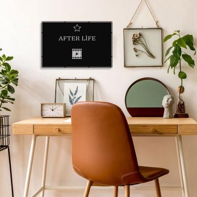 Benim Favori Dizim After Life Tasarım Metal Tablosu 50x32cm