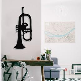 Müzik ve Noltalji Saksafon Tasarım Metal Tablosu 65x28cm