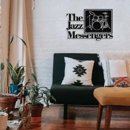 The Jazz Mesengers Art Blakey Tasarım Metal Tablosu 65x44cm