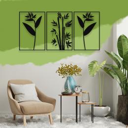 Zarif Üç'lü Çiçekler, Metal Dekarosyon Duvar Tabloları