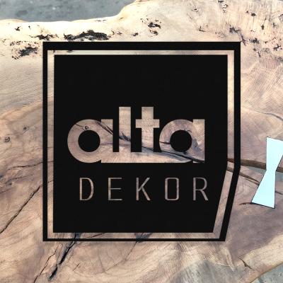 Alta Dekor Dekoratif  Metal Tasarımı 50x50 cm