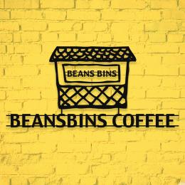 Firmaya Özel Beansbins Coffee Kahvecisi Dekarosyon Metal Saç Tabela  60x30 cm