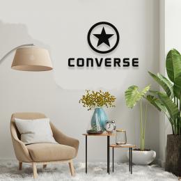 Firmaya Özel Converse ve Yıldız Dekarosyon İçin Metal Saç Tabela 50x32 cm