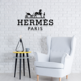 Firmaya Özel Hermes Paris Dekarosyon Metal Saç Tabela 60x30 cm