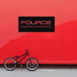 Firmaya Özel Fource Production ve Marketing Dekarosyon İçin Metal Saç Tabela 60x25 cm