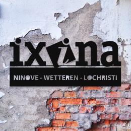 Firmaya Özel İxina Ninova Wetteren Lochrıstı Dekarosyon İçin Metal Saç Tabela 60x25 cm