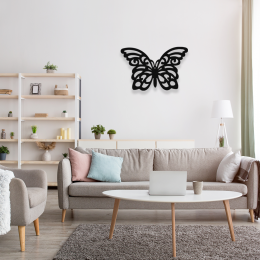 Kelebek Butterfly Dekoratif Metal Tablo Tasarımı 50x33 cm
