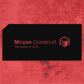 Firmaya Özel Mirzon Construct Tasarım Metal Tabela Dekarosyon Metal Saç Tabela 60x30 cm