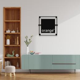 Firmaya Özel Orange Metal İnşaat ve Dekarosyon Metal Saç Tabela 50x50 cm