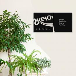 Firmaya Özel Sketch Design Sergi Salonu Tabela Metal Saç Tabela  65x35 cm