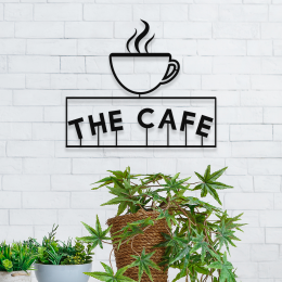 Firmaya Özel THE CAFE VE KAHVE FİNCANI METAL  Tabela 50x40 cm