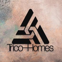 Firmaya Özel Trico Homes Dekarosyon Tabela Metal Saç Tabela  65x55 cm