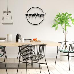 Firmaya Özel Viking Trading Dekarosyon İçin Metal Saç Tabela  50x50 cm