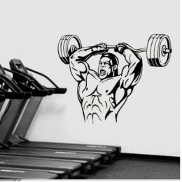Ağırlık Kaldırma Vücut Geliştirme Yazısı Spor Salonu Duvar Stickerı