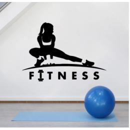 Fitness Yazısı Spor Salonu Duvar Stickerı
