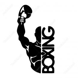Boxing Boksçu Sticker Yapıştırma