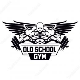 Eski Okul Spor Salonu Sticker Yapıştırma