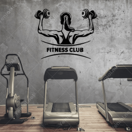 Fitness Club Sticker Yapıştırma