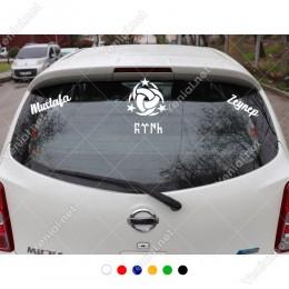 Teşkilat-I Mahsusa Türk ve Kişiye Özel 2 Adet İsim Stickerları