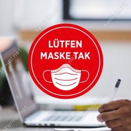 Maske Tak Sticker Afiş Duvar İçin