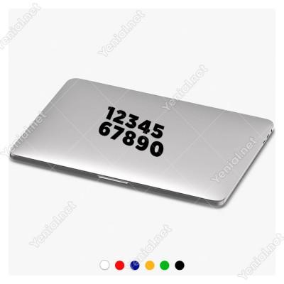 1 Den 0 Kadar (1234567890) Sayı Etiket Sticker Yapıştırma