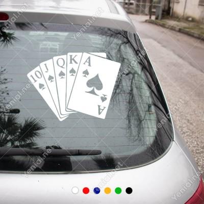 10'dan As'a Kadar İskambil Kağıtları Sticker Yapıştırma