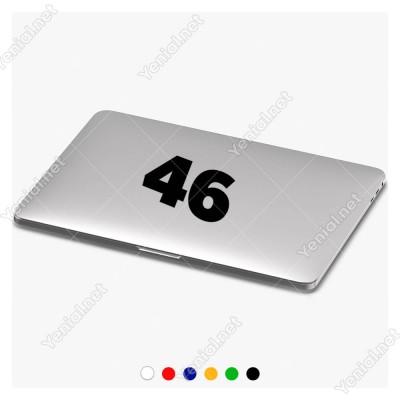 46 Numaralı Sayı Bold Rakam Etiket Sticker Yapıştırma