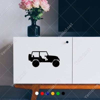 4x4 Jeep Araba Araç Sticker Yapıştırma