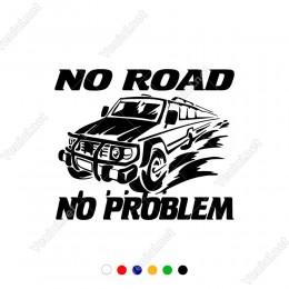 4x4 Jeep No Road No Problem Araç Sticker Çıkartma