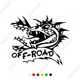 4x4 Ofroad Jeep Kızgın Ejderha Sticker Yapıştırma