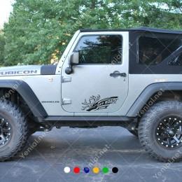 4x4 Ofroad Jeep Vahşi Boynuzlu Geyik Sticker Yapıştırma