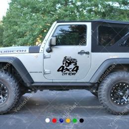 4x4 Ofroad Jeep Yarış Arabası İçin Yazı Sticker