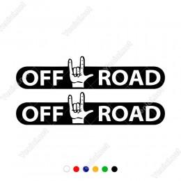 4x4 Ofroad Yazısı ve El İşareti Sticker Yapıştırma