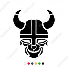 Afrika Yerlileri Savaşçısı Kaskı Araç Duvar Sticker