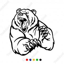 Ağzı Açık Kızgın Ayı Bear Borsa Sticker Yapıştırma