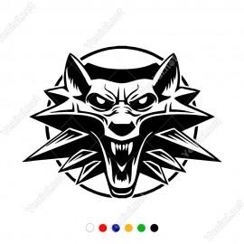 Ağzı Açık Kızgın Kurt Tilki Sticker Yapıştırma