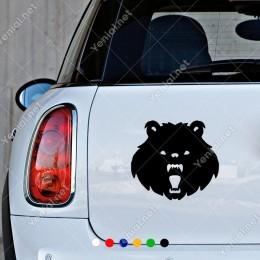 Ağzı Açık Yırtıcı Ayı Araba Araç Oto Sticker