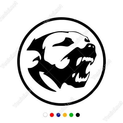 Ağzını Açmış Sinirli Gergin Köpek Dog Sticker Yapıştırma