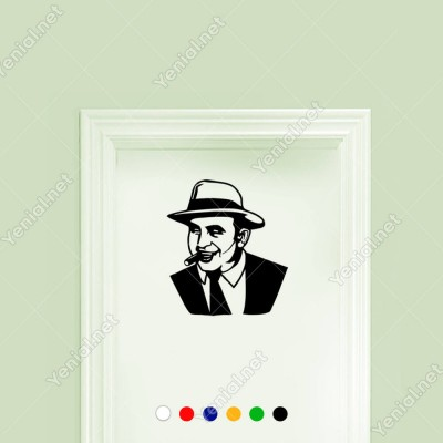 Al Copene Siyah Beyaz Potre Sticker