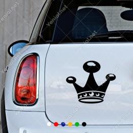 Alt ve Üstü Detaylı Prenses Tacı Modifiye Araba Oto Sticker