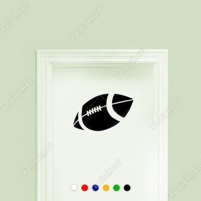 Amerikan Futbolu Topu Sticker Yapıştırma
