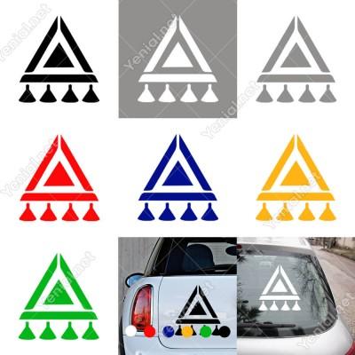 Anadolu Motifi Tılsım Simgesi Duvar Araç Sticker