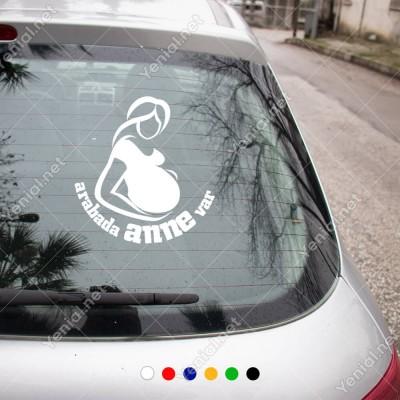 Arabada Anne Var Kız-Erkek Modifiye Araba Sticker