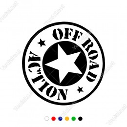 Army Yıldız Off Road Action Modifiye Araba Oto Sticker