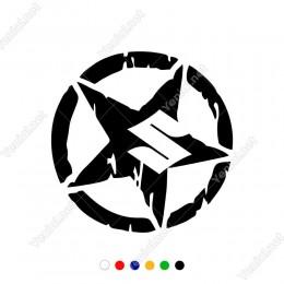 Army Yıldız Suzuki Logo Sticker Araba Sticker, Oto Sticker, Araba Çıkartmaları, Jeep için Aksesuarlar, 4X4 Sticker, Laptop ve Duvar için