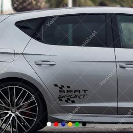 Ateş Efektli Seat Sport Sticker Yapıştırma